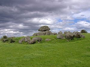 English: One of the Carrowmore tombs in Irelan...