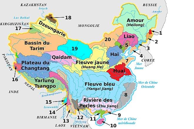 asie cartes hydrographique