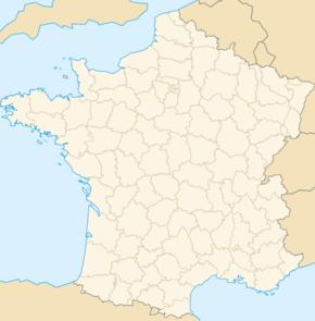 Carte de localisation de Vence
