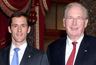 Carte Goodwin - Goodwin with fellow West Virginia Senator, Jay Rockefeller