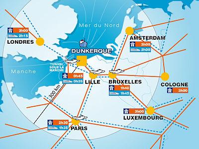 Situation d'accès de Dunkerque