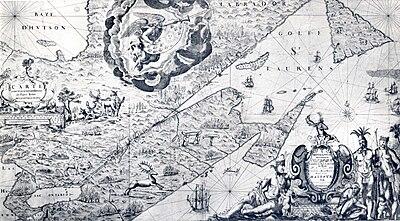 Carte de La Nouvelle-France du XVIIe siècle dédiée à Colbert.jpg