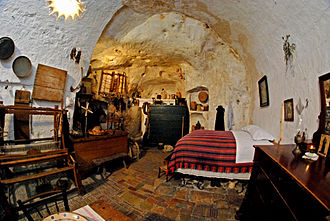 Underground living - An underground house in the Sassi di Matera, Italy