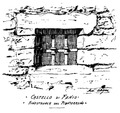 Castello di Fenis, finestruola del pianterreno, fig 152, disegno Nigra.tiff