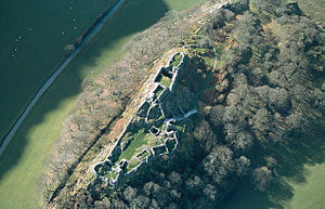 Castell y Bere - Aerial view of the castle
