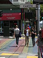 Castro Street Crossing in the Rainbow Flag Colour.JPG
