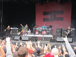 Cavalera Conspiracy op het Norway Rock Festival in 2010.