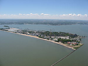 Cedar Point - Aerial view of Cedar Point in 2008