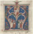 Central Italy, 13th century - Historiated Initial (A) Excised from an Antiphonary- Christ in Majesty with - 1951.549 - Cleveland Museum of Art.tif