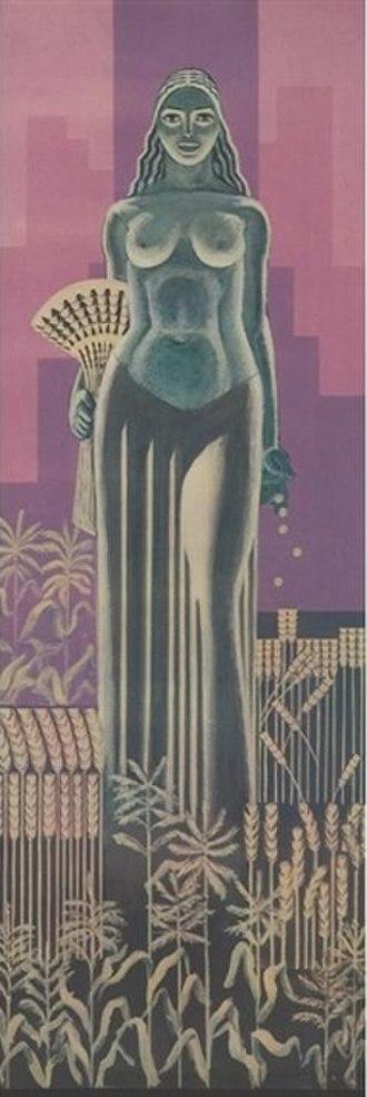John W. Norton - Image: Ceres mural, John W. Norton, 1930 Chicago Board of Trade Building