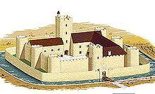 Le château au XIIème siècle.