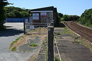 Disused railway stations on the Cornish Main Line - Chacewater railway station in 2008