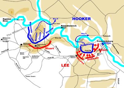 Chancellorsville battle on May 4