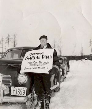 Ontario Highway 129 - On January 28, 1949, the Chapleau Road was completed, opening a community previously accessible only by plane