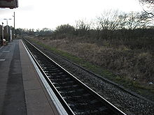 Railroad tracks parallel lines