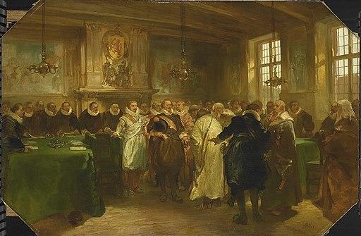 Charles Rochussen - Prins Maurits van Oranje ontvangt een delegatie uit Rusland in 1614