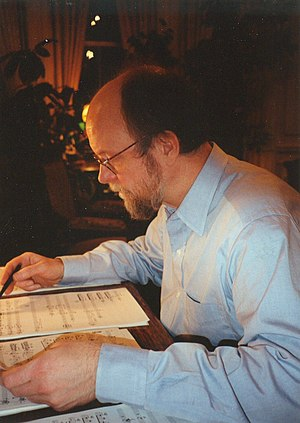 Charles Wuorinen - Image: Charles Wuorinen at desk 2
