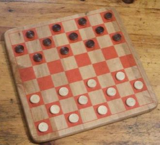 National Toy Hall of Fame - English draughts board (aka checkers)