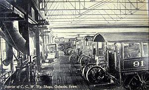 Oelwein, Iowa - CGW locomotive shop in the early 1900s
