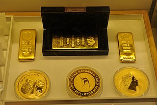 Bullion Gold, silver, or other precious metals in the form of bars or ingots