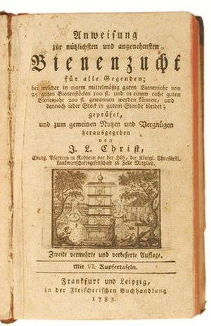 Johann Ludwig Christ - Plate from Naturgeschichte, Klassifikation und Nomenklatur der Insekten vom Bienen.