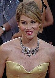 Christina Applegate na 66ª edição do Globo de Ouro em 2009.