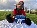 Christmas Crochet figure, Inverkip pillarbox 4.jpg