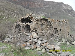 The remains of the 13th-century church of Harzhis