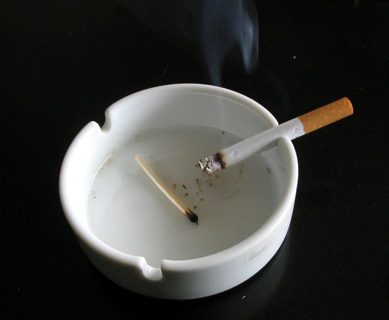 Cigarette in white ashtray.jpg