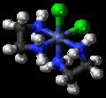 Cis-Dichlorobis(ethylenediamine)cobalt(III) cation 3D ball.png