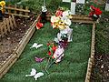 City of London Cemetery and Crematorium - temporary plastic grave decorations 03.jpg