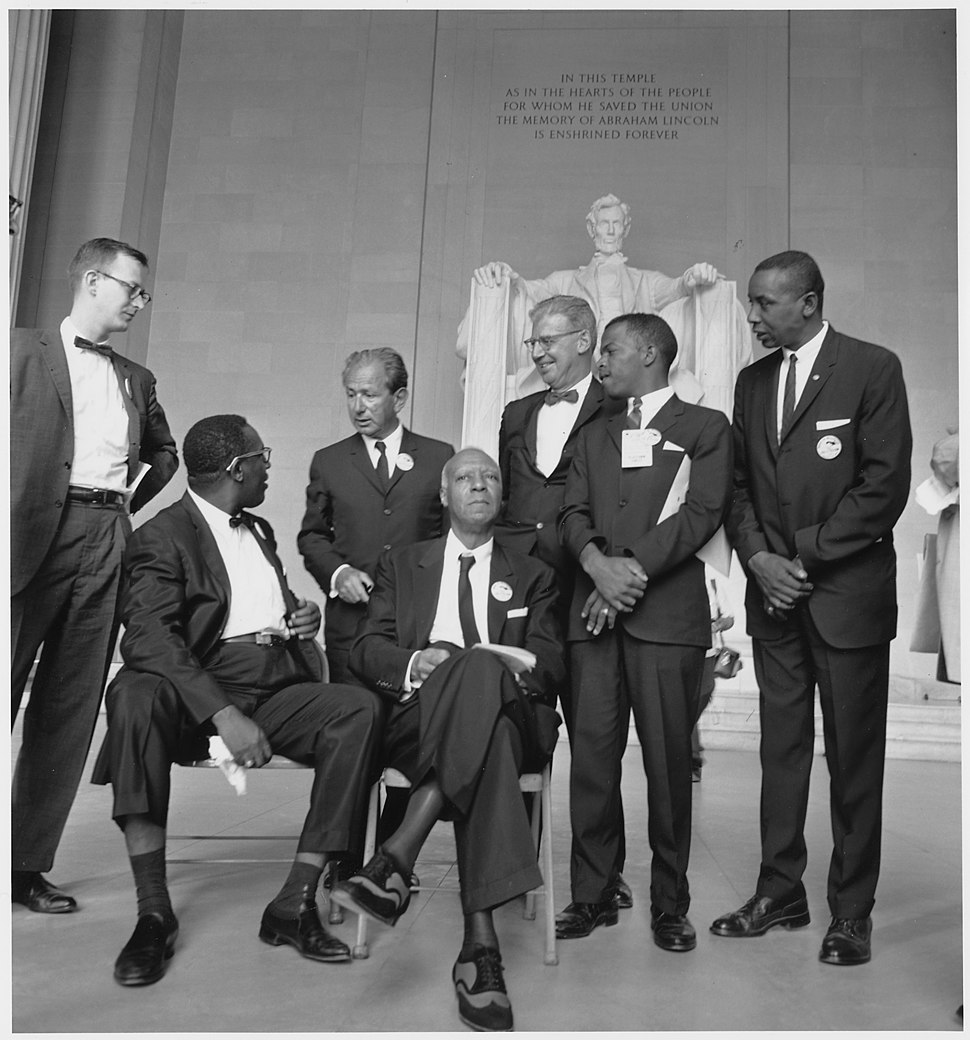 Civil Rights March on Washington, D.C. (Leaders of the march) - NARA - 542056