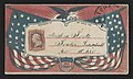 "Civil War envelope showing American flags, eagle with laurel branches, and shield bearing message ""Union and liberty"" LCCN2011648567.jpg"