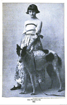 Clara Tice and her dog, from a 1916 publication.