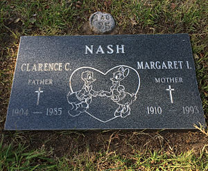 Clarence Nash - Grave of Clarence Nash at the San Fernando Mission Cemetery.