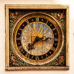 Church of the Holy Spirit, Tallinn - Image: Clock of the Church of the Holy Ghost in Tallinn