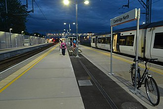 Cambridge North railway station - Cambridge North railway station platforms in May 2017