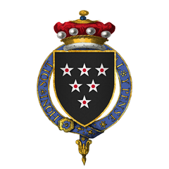 Coat of Arms of Sir William Bonville, 1st Baron Bonville, KG.png
