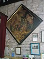Coat of arms on the south wall at St John the Baptist, Ditton Priors - geograph.org.uk - 1447193.jpg