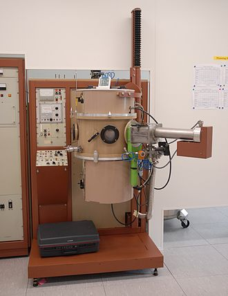 Evaporation (deposition) - Evaporation machine used for metallization at LAAS technological facility in Toulouse, France.