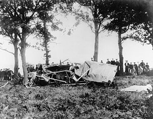 Samuel Franklin Cody - The wreckage of Cody's fatal air crash