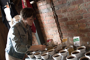 Coffee cupping - Comparing a few small-batch roastings in Eugene, Oregon