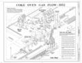 Coke Oven Gas Flow - 1952 - Thomas By-Product Coke Works, 1200 Tenth Street West, Thomas, Jefferson County, AL HAER ALA,37-THOS,6- (sheet 5 of 7).png