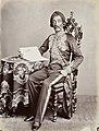 Collectie NMvWereldculturen, TM-60004954, Foto, 'Studioportret van kunstschilder Raden Saleh', fotograaf Woodbury & Page, 1860-1872.jpg