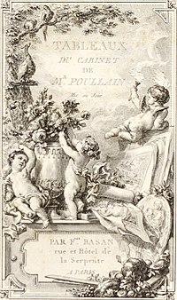 Collection de cent-vingt estampes, gravée d'après les tableaux and dessins qui composoient le cabinet de m. Poullain précédée d'un abrégé historique de la vie des auteurs qui la composent Cette suite (14591998020).jpg