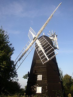 Collis Mill, Great Thurlow Grade II* listed windmill in Great Thurlow, Suffolk, UK