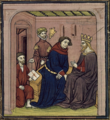 Comte d'Artois in a conversation with the king of Castile, while a messenger brings a letter.png