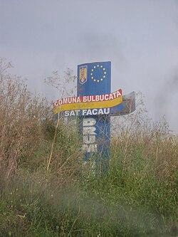 Comuna Bulbucata Welcome Sign.JPG