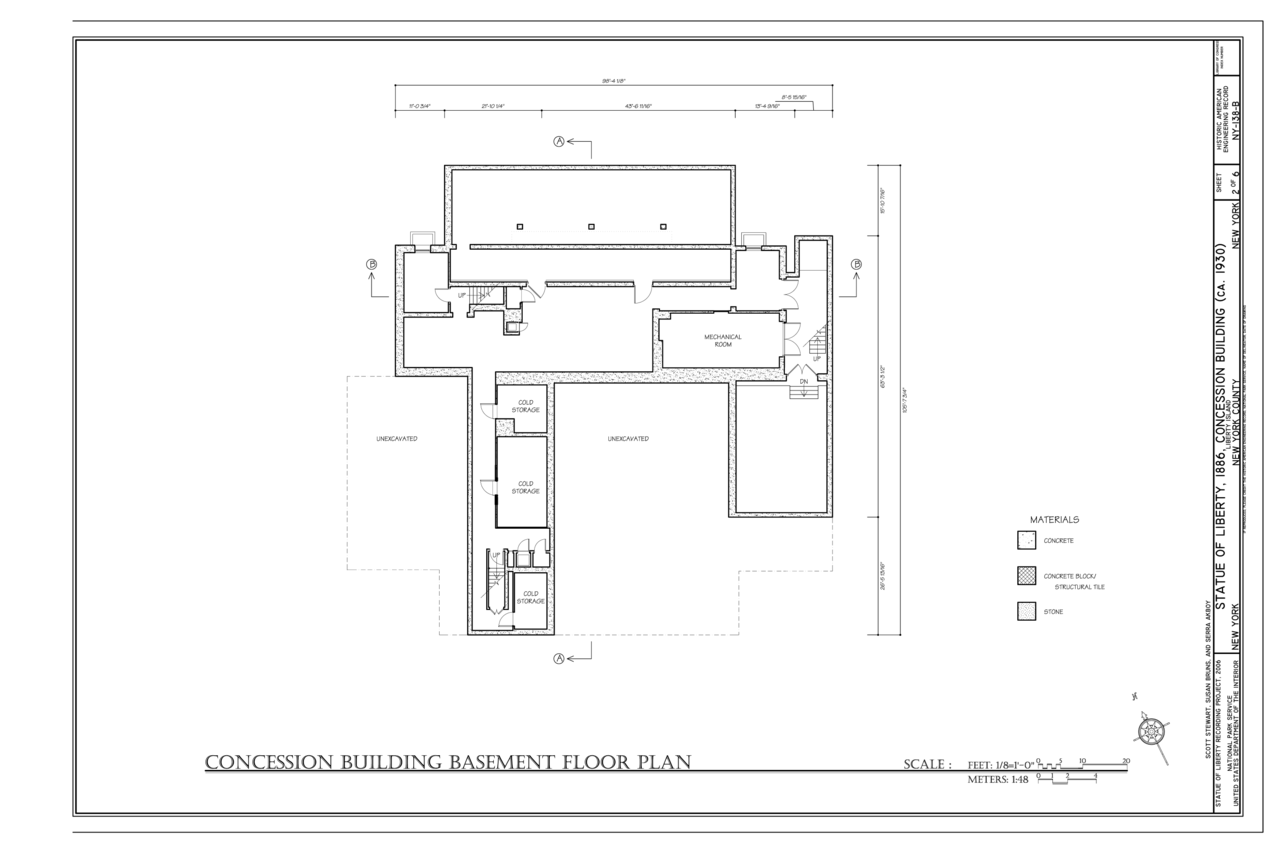 File concession building basement floor plan statue of for Island basement house plans