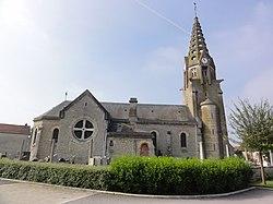 Condé-sur-Suippe (Aisne) Église, vue latérale.JPG